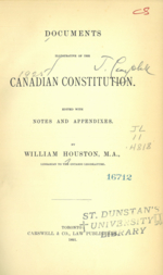 Constitutional Documents of Canada